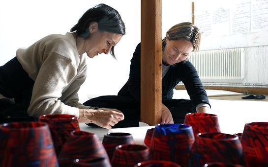 Monica and Carmen at Ricklundgården Saxnäs 2012. Photo: Mikael Rutberg