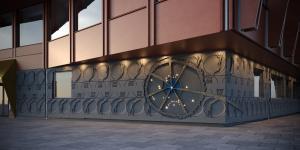 Concrete fascade for Kunskapshuset Gällivare 2020